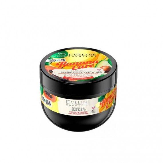 Eveline Cosmetics Food for Hair Banana Care Máscara Nutritiva para Cabelos Pintados