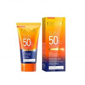 Eveline Cosmetics Sun Protetor Solar Facial para Peles Sensíveis SPF50