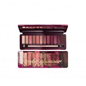 Eveline Cosmetics Paleta com 12 Sombras Ruby Glamour