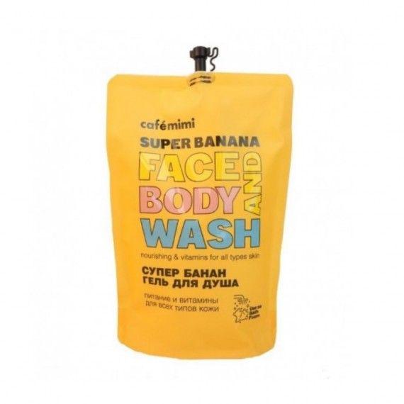 Café Mimi Gel de Limpeza de Rosto e Corpo Super Banana - Recarga