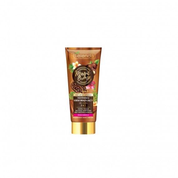 Bielenda creme corporal hidratante bronzeador 2 em 1 pele escura