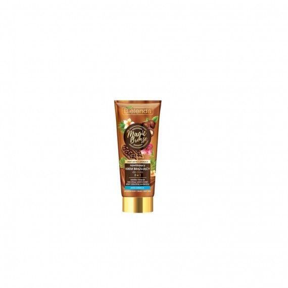 Bielenda creme corporal hidratante bronzeador 2 em 1 pele clara