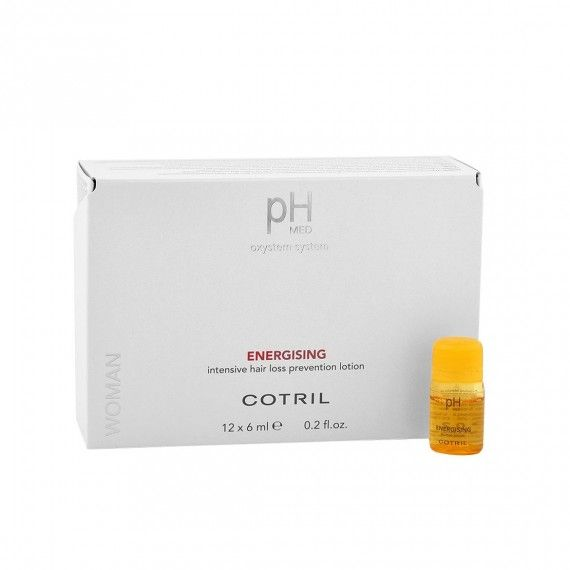 Cotril pH MED Energising Loção Intensiva de Prevenção da Queda de Cabelo 12x6ml