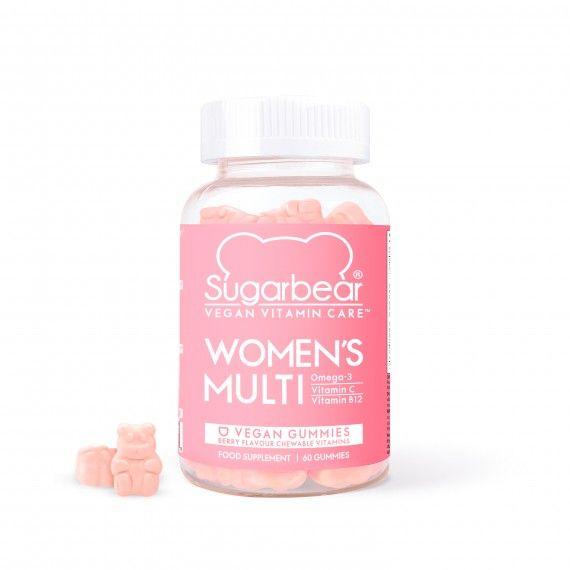 Sugar Bear Hair Women's Multi Suplemento Multivitamínico Vegan para Mulher