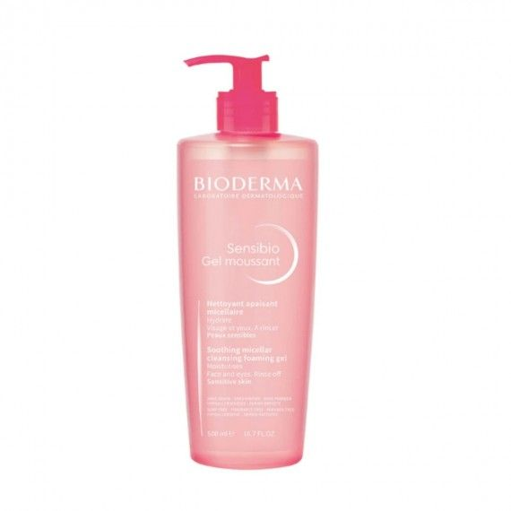 Bioderma Sensibio Gel de Limpeza Facial para Peles Sensíveis ou Intolerantes