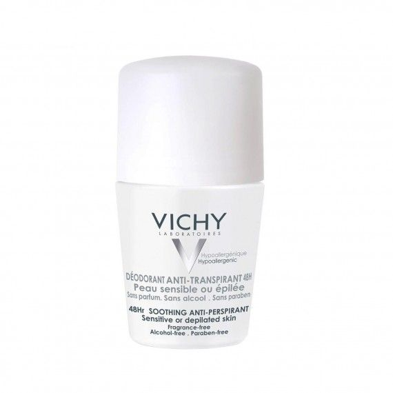 Vichy Desodorizante Roll-On Suavizante 48h para Peles Sensíveis ou Depiladas