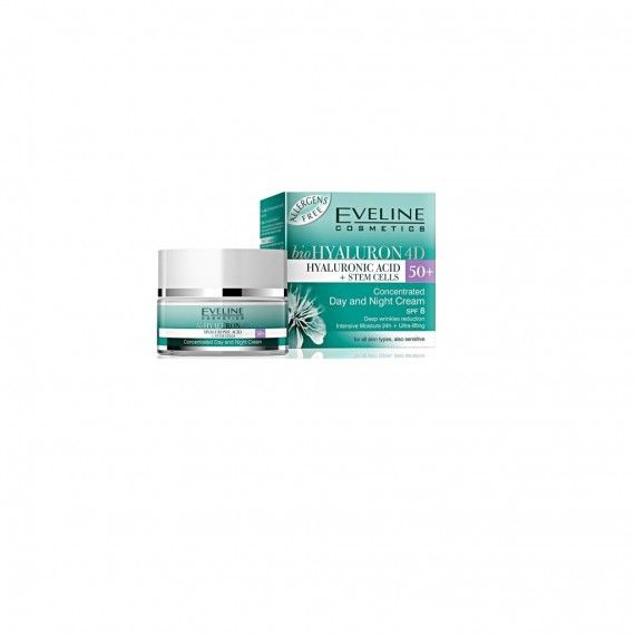 Eveline Cosmetics Hyaluronic Clinic Day and Night Cream 50+